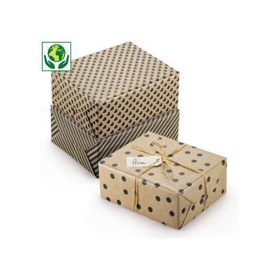 Papier cadeau 100 % recyclé Retro##Cadeaupapier Retro 100% gerecycleerd