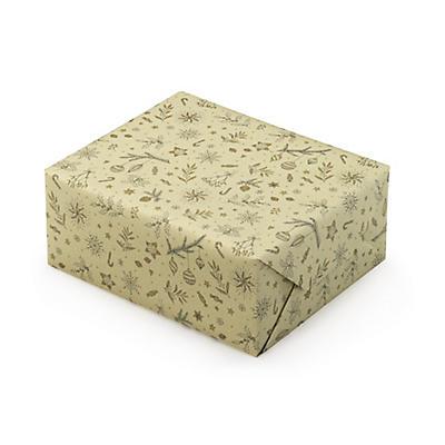 Papier cadeau Noël en papier à base d'herbe##Cadeaupapier van graspapier Kerst