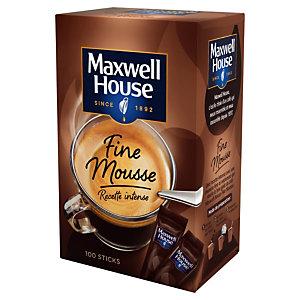 Café soluble Maxwell House Fine Mousse, boîte de 100 sticks