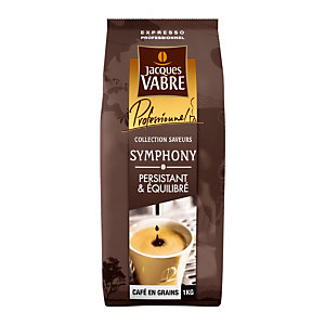 Café en grains Jacques Vabre Symphony, mélange robusta/ arabica, paquet de 1 kg