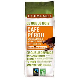 Café moulu Ethiquable Café Pérou, 100% arabica, 2 x 250 g