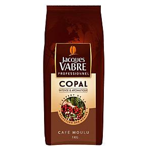 Café moulu Jacques Vabre Copal, mélange robusta/ arabica, paquet de 1 kg