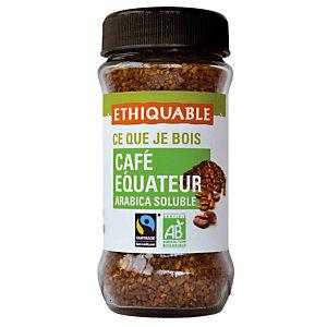 Café soluble Ethiquable, pot de 85 g