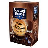 Café soluble Maxwell House Fine Mousse, boîte de 100 sticks