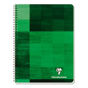 Cahiers reliure spirale 100 pages 17 x 22 Clairefontaine Réglure 5 x 5 coloris selon arrivage