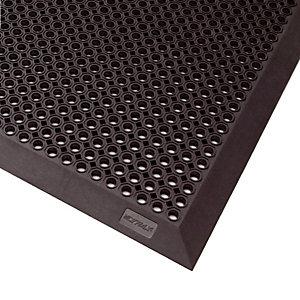 Caillebotis caoutchouc épaisseur 12,5 mm, 0,70 x 0,90 m avec bord coloris noir