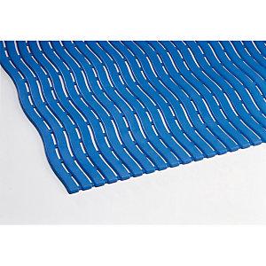 Caillebotis milieu humide Soft-Step en mètre linéaire, largeur 0,60 m bleu