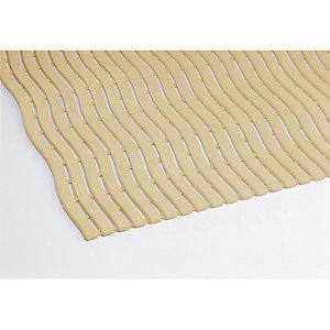 Caillebotis milieu humide Soft-Step en mètre linéaire, largeur 0,60 m ivoire