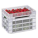 Caisse alimentaire ajourée 25 L. Gilac##Voedingswaardige volle kist Gilac 25 L