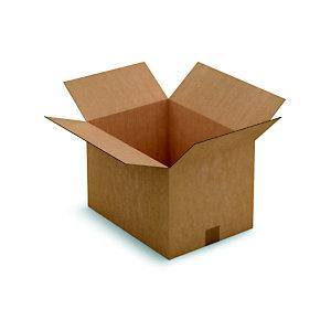 Caisse américaine carton simple cannelure - L.int. 40 x l.30 x h.27 cm - Kraft brun