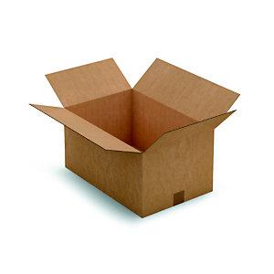 Caisse américaine carton simple cannelure - L.int. 50 x l.33 x h.25 cm - Kraft brun