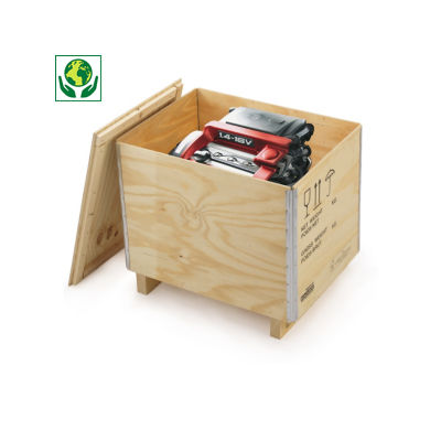 Caisse en bois contreplaqué avec chevron RAJABOX