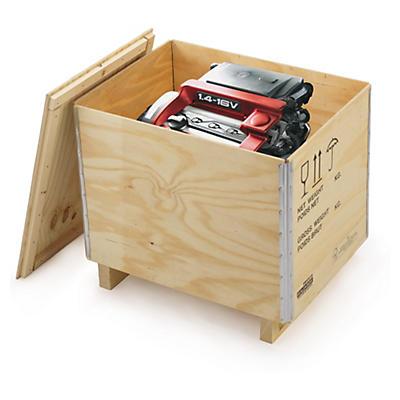 Caisse bois contreplaqué avec chevrons RAJABOX