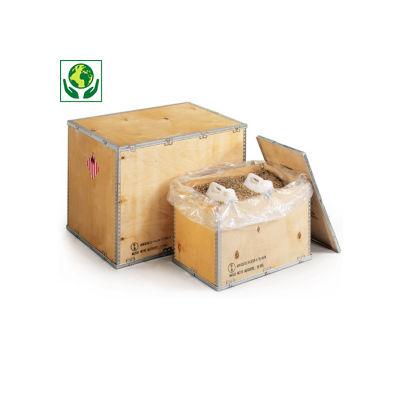 Caisse en bois contreplaqué homologuée##Kist voor gevaarlijke producten