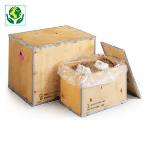 Caisse bois contreplaqué pour produits dangereux (logo ONU)