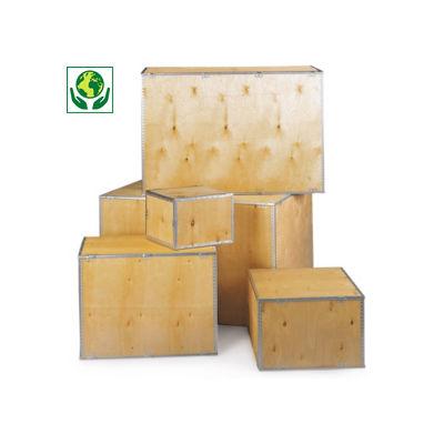 Caisse en bois contreplaqué##Exportkist in multiplex