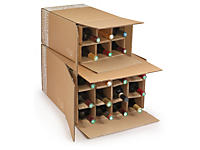 Caisse pour bouteilles avec croisillons renforcés Cargo