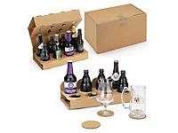 Caisse avec calage carton pour bouteilles de bières