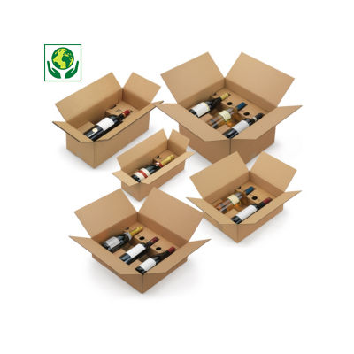 Caisse avec calage carton à montage instantané
