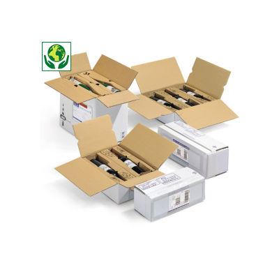 Caisse avec calage carton##Flesverpakking met individuele ligbedjes