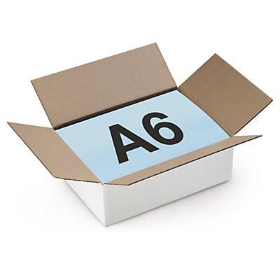 Caisse carton à base carrée blanche simple cannelure RAJA##Quadratische Wellpapp-Faltkartons RAJA, 1-wellig, weiss