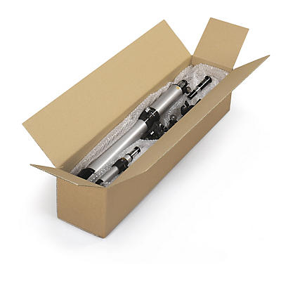 Caisse carton brune ou blanche double cannelure à grande ouverture Teckelbox##Lange Kartons mit Öffnung an der Längsseite, 2-wellig, braun