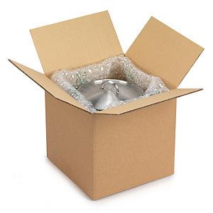 Caisse carton brune double cannelure à base carrée RAJA