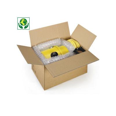 Caisse carton brune double cannelure à montage instantané