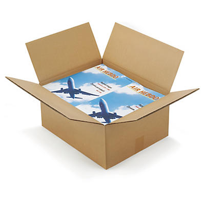Caisse carton brune double cannelure RAJABOX longueur 40 à 49 cm