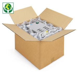 Caisse carton brune double cannelure renforcée palettisable RAJA