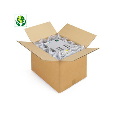 Caisse carton brune double cannelure renforcée palettisable RAJA
