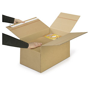 Caisse carton brune double cannelure VARIABOX qualité Super format A3