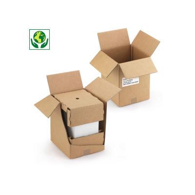Caisse carton brune d'expédition pour carton de 6 bouteilles