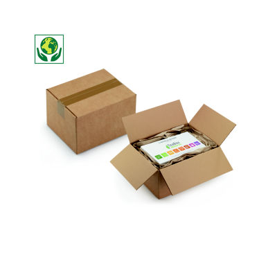 Caisse carton brune à montage rapide