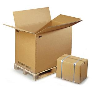 Caisse carton brune palettisable triple cannelure RAJA