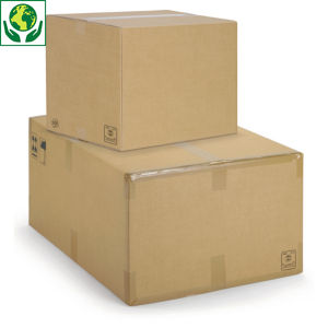 Caisse carton brune picking double cannelure