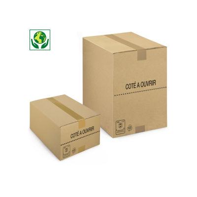 Caisse carton brune picking simple cannelure 100% recyclé