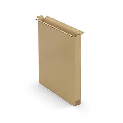 Caisse carton brune pour produit plat double cannelure