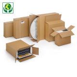 Caisse carton brune pour produit plat simple cannelure
