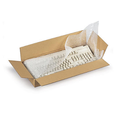 Caisse carton brune simple cannelure de 100 à 800 mm de long##Braune flache Wellpapp-Faltkartons RAJA, 1-wellig