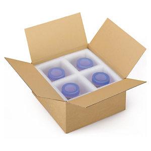 Caisse carton brune simple cannelure à base carrée RAJA