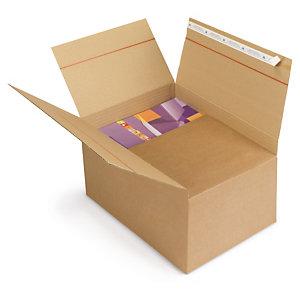 Caisse carton brune simple cannelure avec fermeture adhésive qualité Super format A3