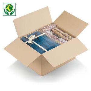 Caisse carton brune simple cannelure à montage instantané RAJA