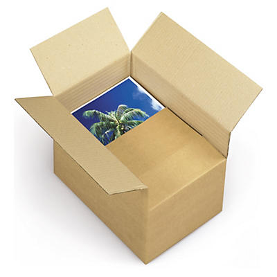 Caisse carton brune simple cannelure qualité Standard format A4/A4+