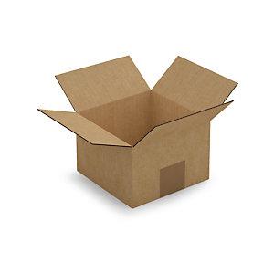 Caisse carton brune simple cannelure RAJA 15x15x10 cm