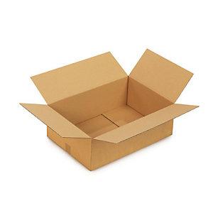 Caisse carton brune simple cannelure RAJA 50x40x30 cm