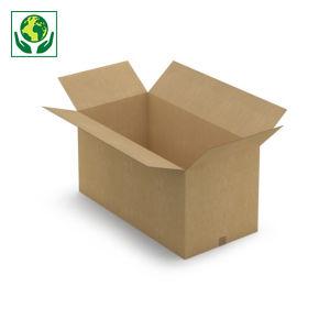 Caisse carton brune simple cannelure RAJA longueur 70 à 150 cm