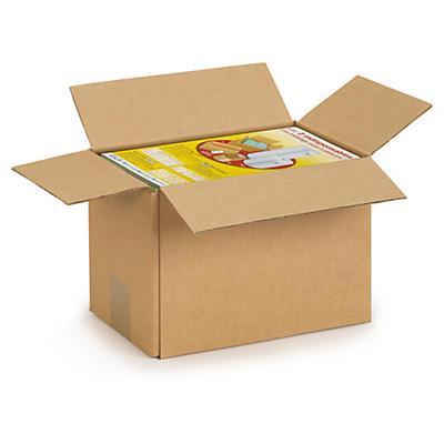 Caisse carton brune simple cannelure RAJABOX de moins de 300 mm