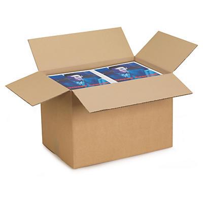 Caisse carton brune simple cannelure RAJABOX de 400 à 500 mm