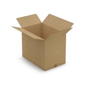 Caisse carton brune simple cannelure RAJABOX 59x39x48 cm